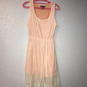 Pink & White Asymmetrical Dress